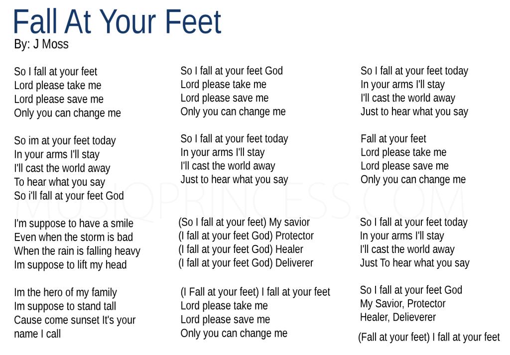 Lyric lyrics to family of god : J Moss -Fall At Your Feet Lyrics | MusiqPrincess